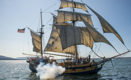 Hawaiian Chieftain Tall Ship Battle Sail Tour