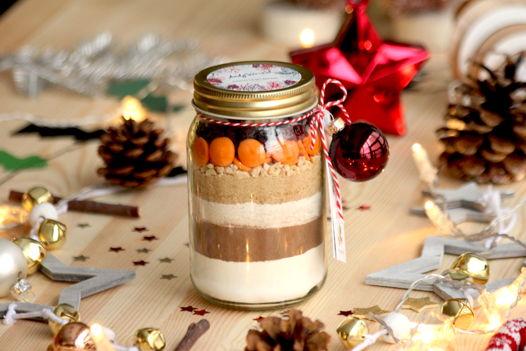 """№42 Почти печенье в банке """"Брауни с клюквой, арахисом и апельсиновым шоколадом"""""""