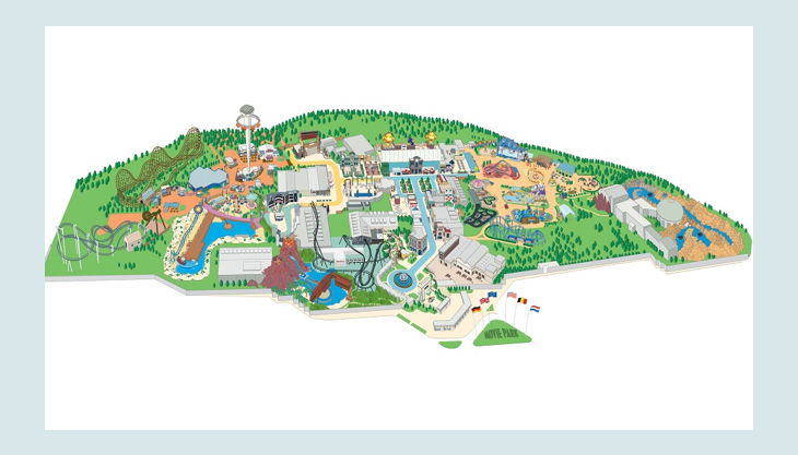 movie park germany map