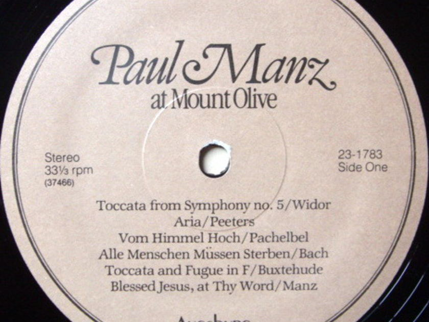 ★Audiophile★ Augsburg / MANZ, - Paul Manz at Mount Olive, MINT!