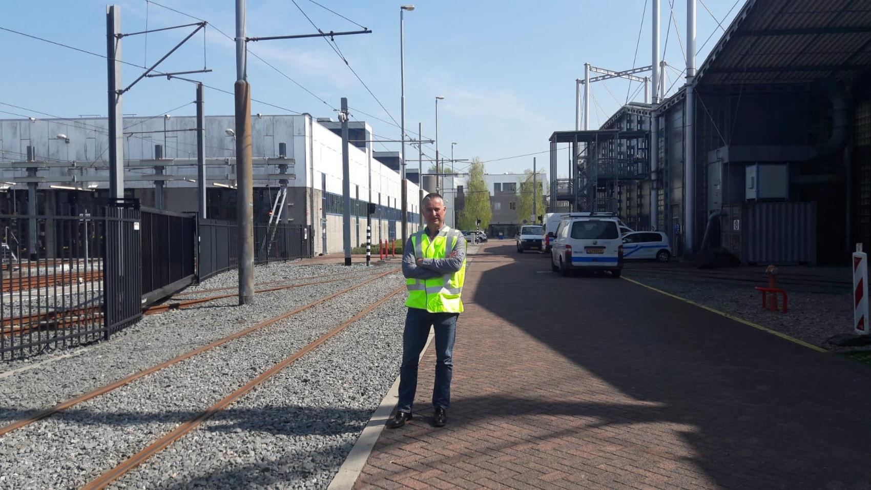 Sjir Boesten, testmanager GVB bij spoor op HWR in Diemen