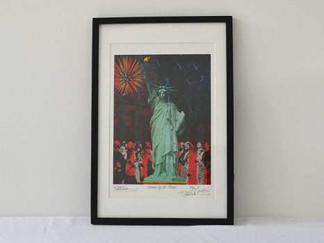 """""""Drawn by the Flame"""" Statue of Liberty Print"""