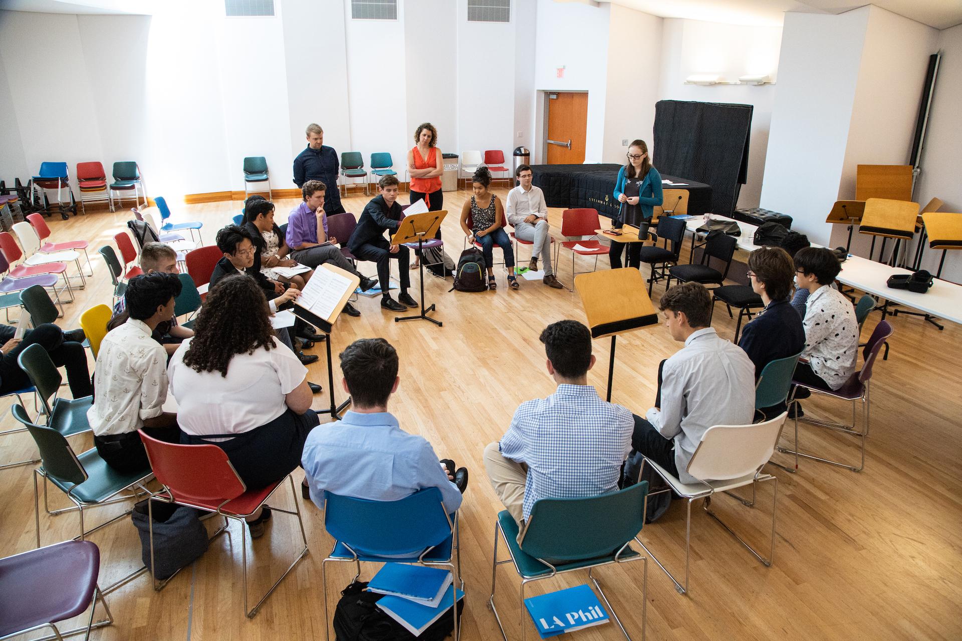 Estudiantes del Programa de Becas para Compositores de la LA Phil