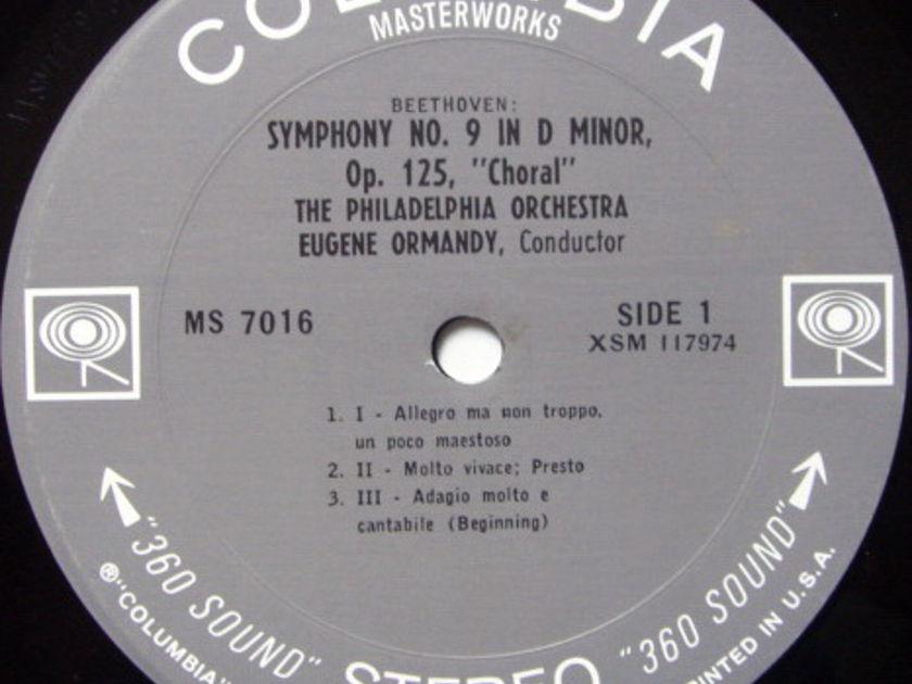 Columbia 2-EYE / EUGENE ORMANDY, - Beethoven Symphony No.9 Chorale, MINT!