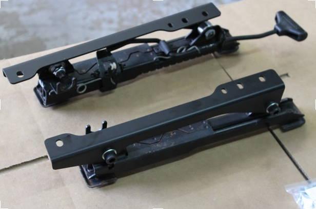 E30 Recaro Adapters mounted to seat rails