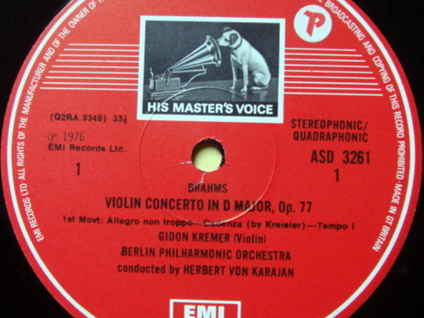 EMI ASD STAMP-DOG / GIDON KREMER, - Brahms Violin Concerto, MINT!
