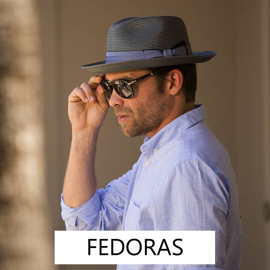 Men's fedoras are a classic style for all year long.