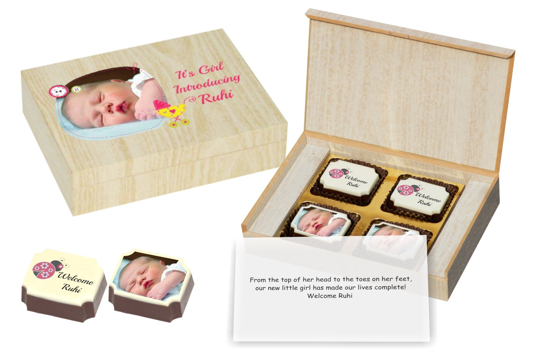 Baby Girl Birth Announcement Gift Idea CHOCOCRAFT – New Born Baby Arrival Announcement Messages