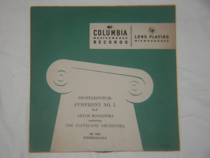Artur Rodzinski - Shostakovich Symphony No. 5, Op. 47 Columbia ML 4042