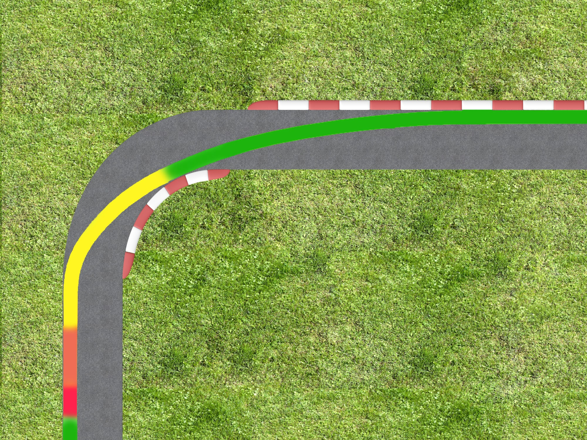 trail braking corner example