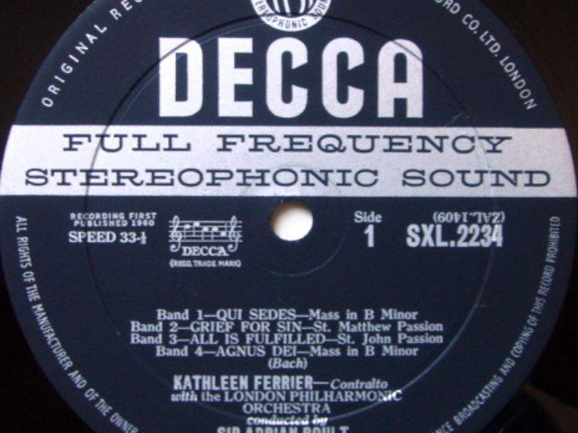 DECCA SXL-WB-ED1 / KATHLEEN FERRIER, - Bach-Handel Recital, EX!