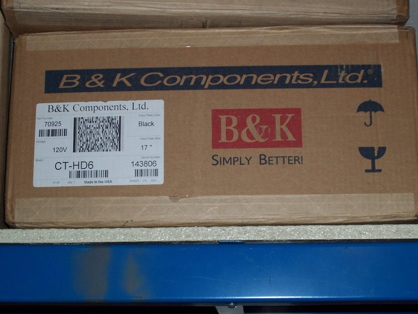 "B&K Components HD6 17"" Black Faceplate"