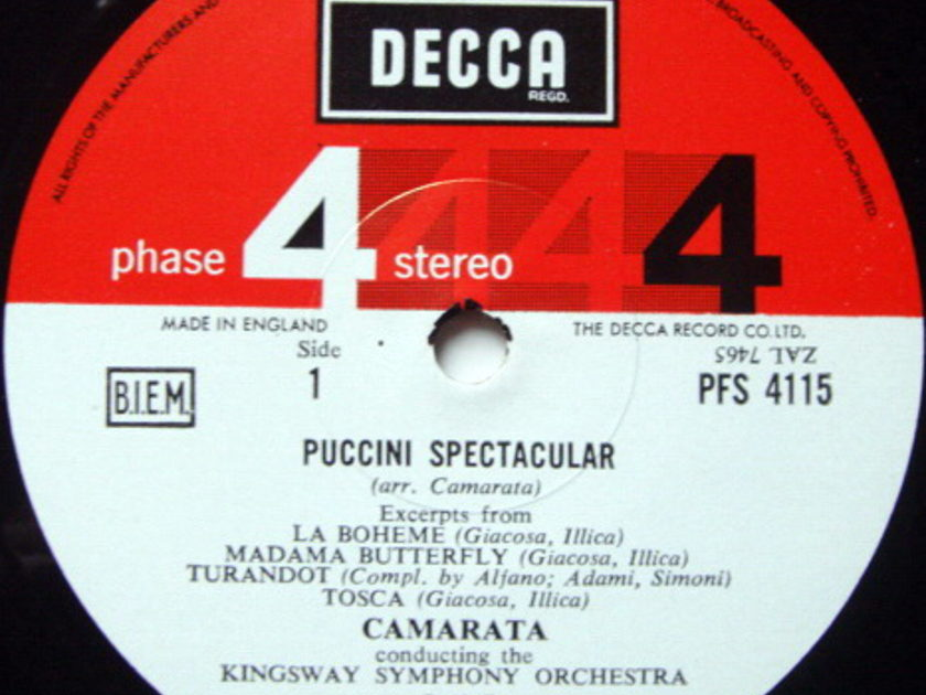 DECCA PHASE 4 STEREO / CAMARATA, - Puccini Spectacular, MINT!