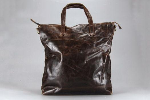 "Темно коричневая кожаная сумка ""Advantage DARK BROWN"""