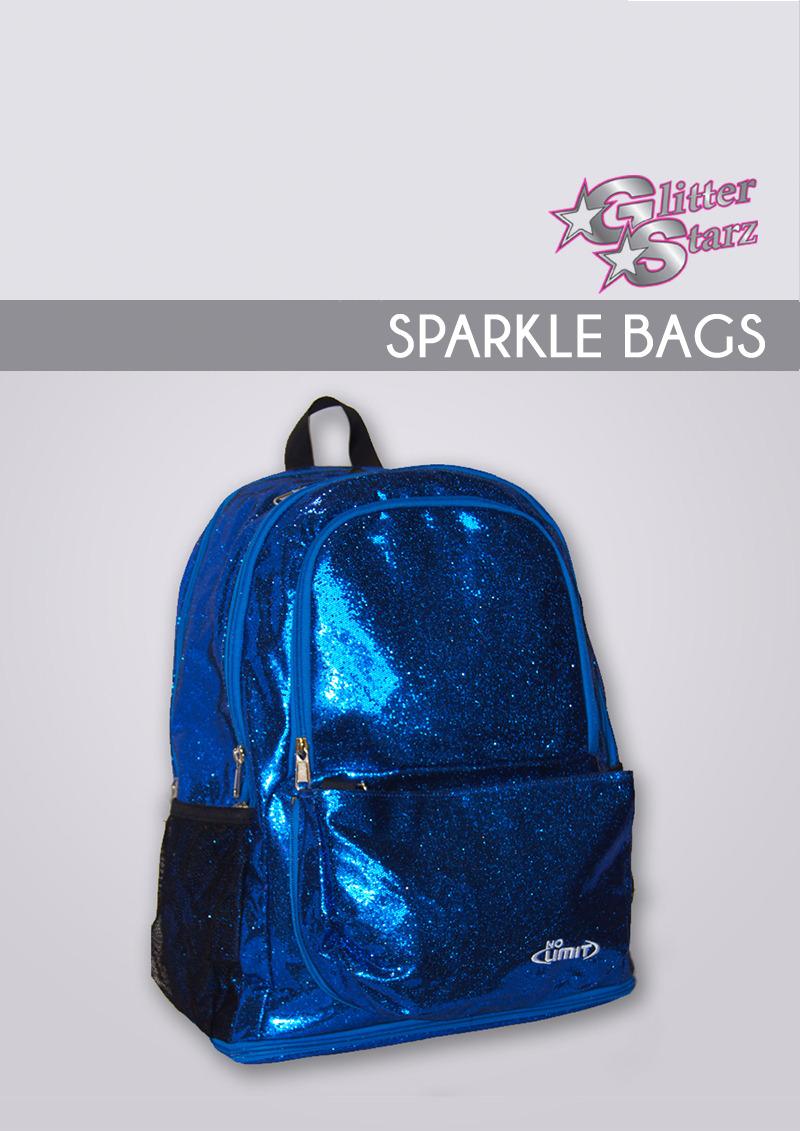 sparkle bag blue no limit glitterstarz cheer custom bookbag