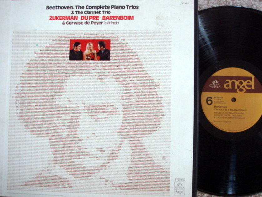 EMI Angel / DU PRE-BARENBOIM-ZUKERMAN, - Beethoven The Complete Piano Trios, MINT, 5 LP Box Set!