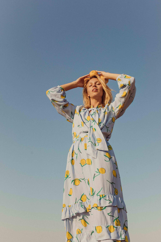 YOLKE SS19 - Prowling Leopard Silk Dressing Gown & Marianne Sky Hilary Set