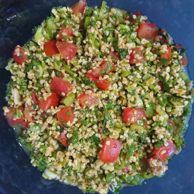 Date: 24 Dec 2019 (Tue) 22nd Side: Mixed Herb Tabouli [157] [133.3%] [Score: 9.0] 3rd Side for Christmas party at midnight 24 Dec 2019 (Tue).
