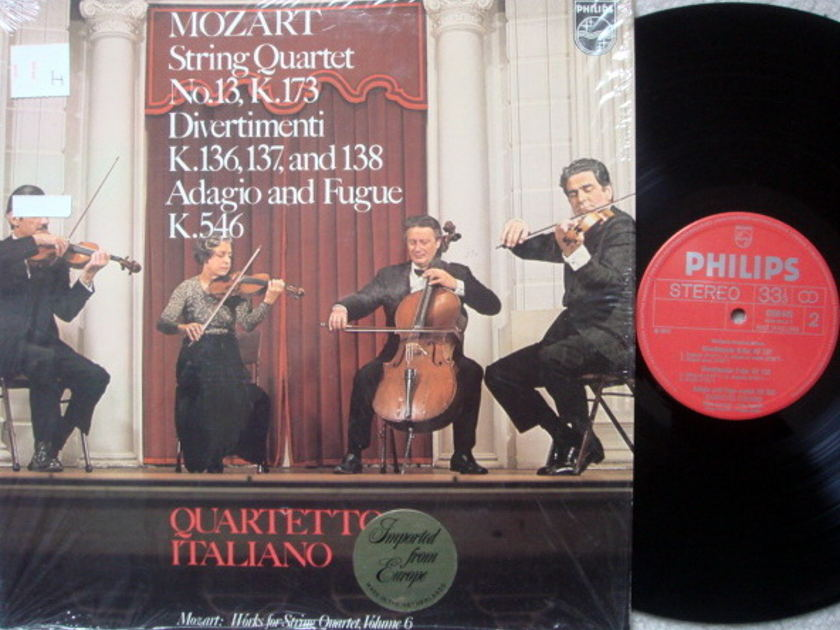 Philips / QUARTETTO ITALIANO, - Mozart String Quintets No.13, Divertimentos,  NM!