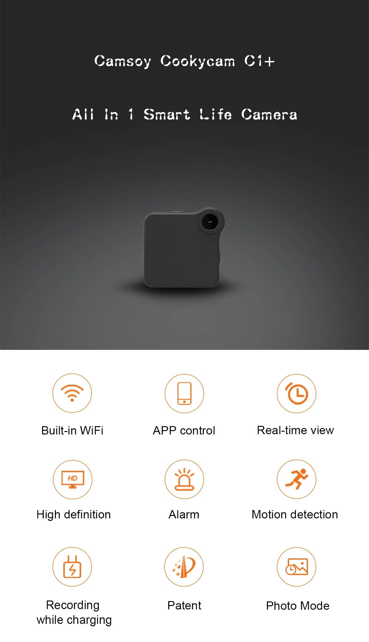 APP Wireless Remote Nanny Mini WiFi Camera C1