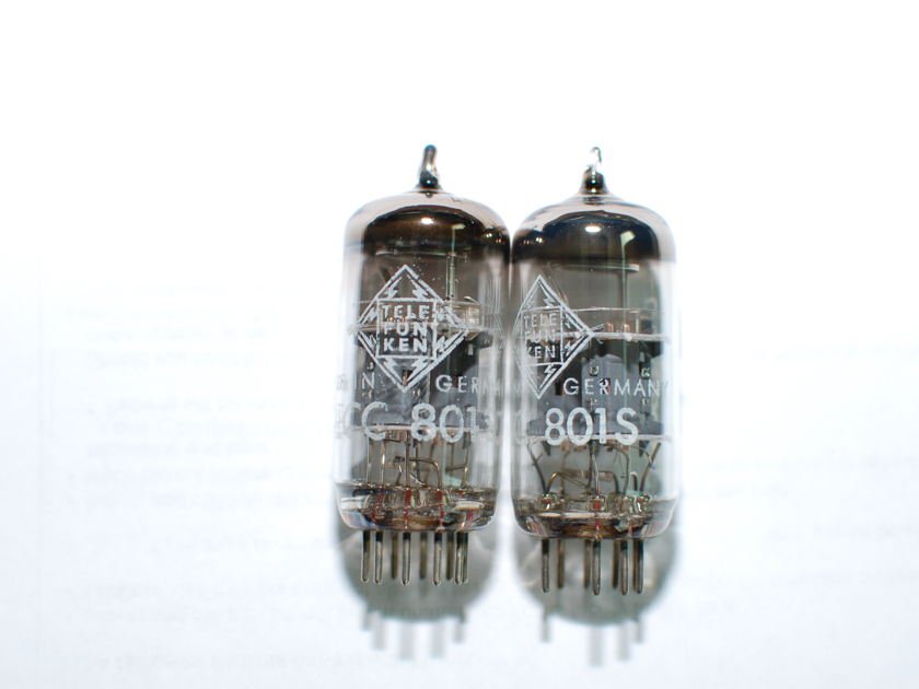 Telefunken ECC801S NOS matched pair