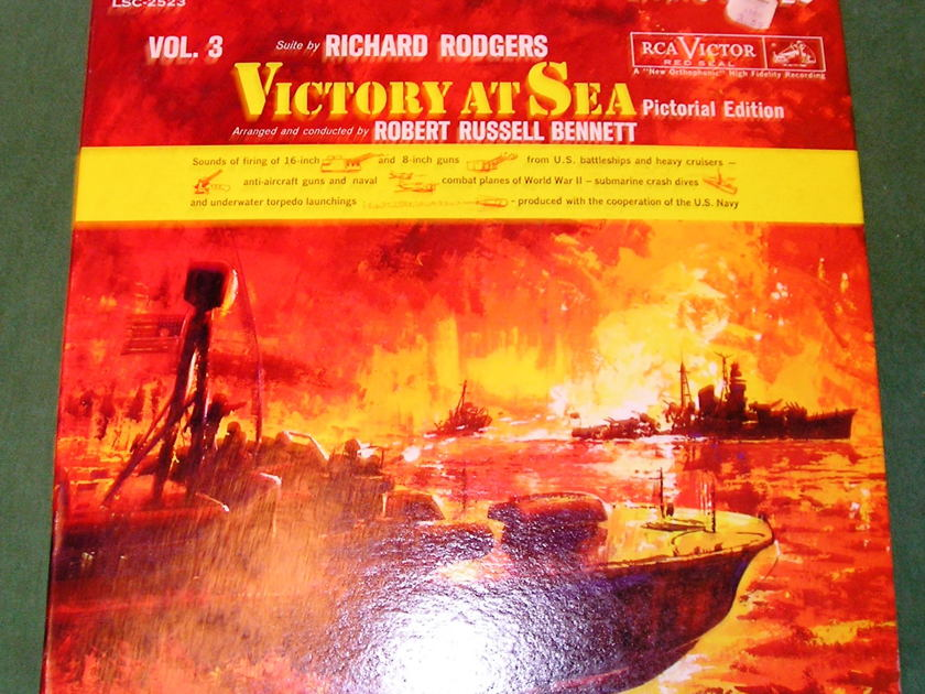 "RICHARD RODGERS  ""VICTORY AT SEA VOL 3"" - 1961 RED SEAL SHADED DOG  ***NM 9/10***"