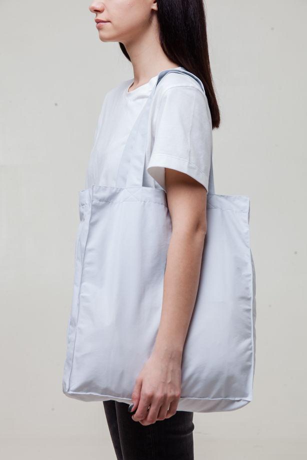 Шоппер хлопоквый  Shopping bag Barely Blue