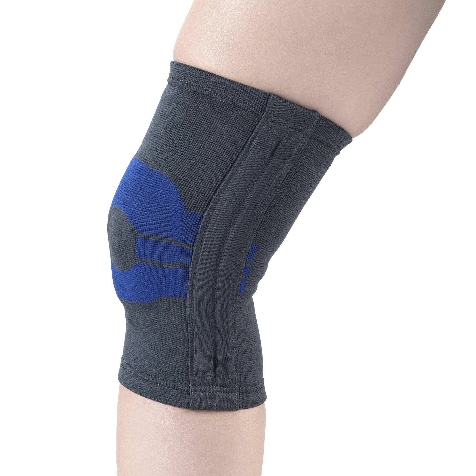 2435 / KNEE SUPPORT WITH COMPRESSION GEL INSERT & FLEXIBLE STAYS