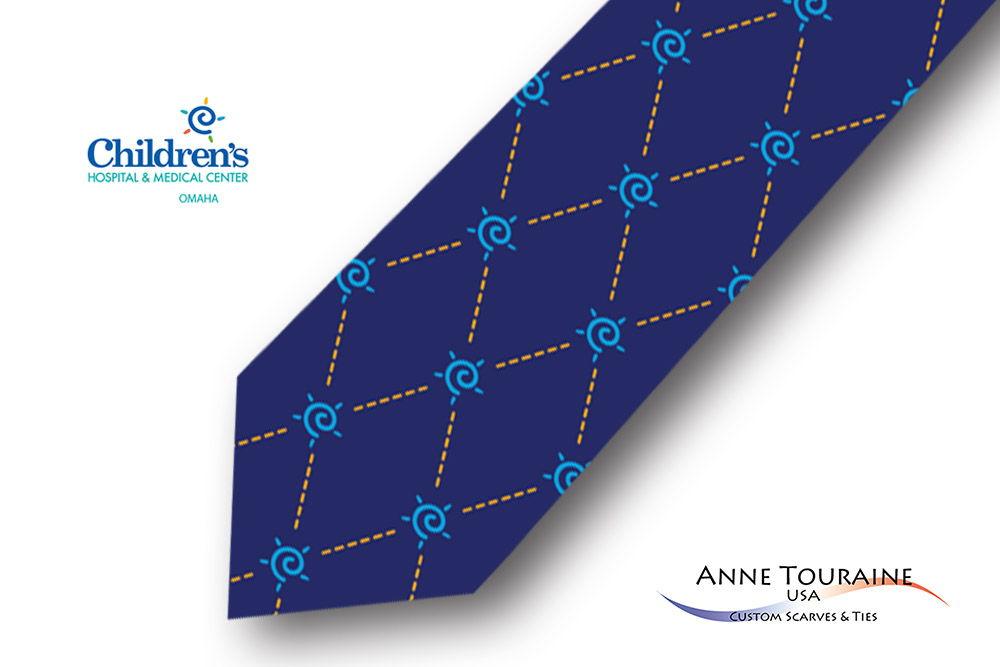 Geometric-patterned-custom-ties-design-style-navy-blue