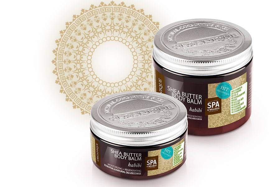Organique regenerating and moisturising Shea Body Butter Habibi 100ml box