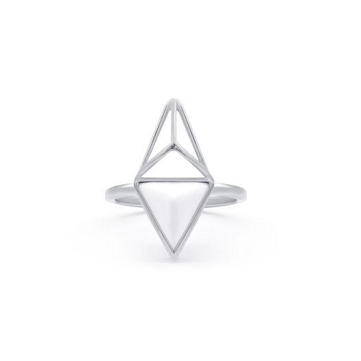 Кольцо Leilani, Серебро | Белый фарфор