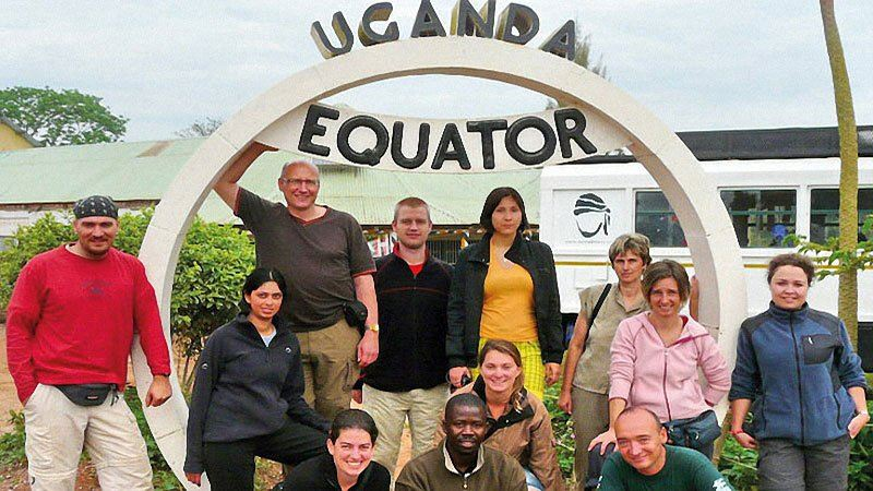 Group at the Equator, Uganda
