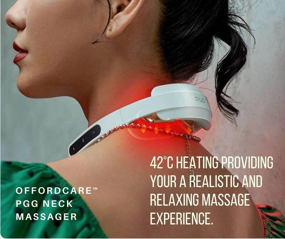 Neck Massager with Heat, Portable Neck Massager,  TENS Neck Massager