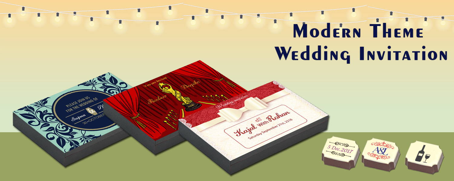 Modern Theme Wedding Invitation – CHOCOCRAFT