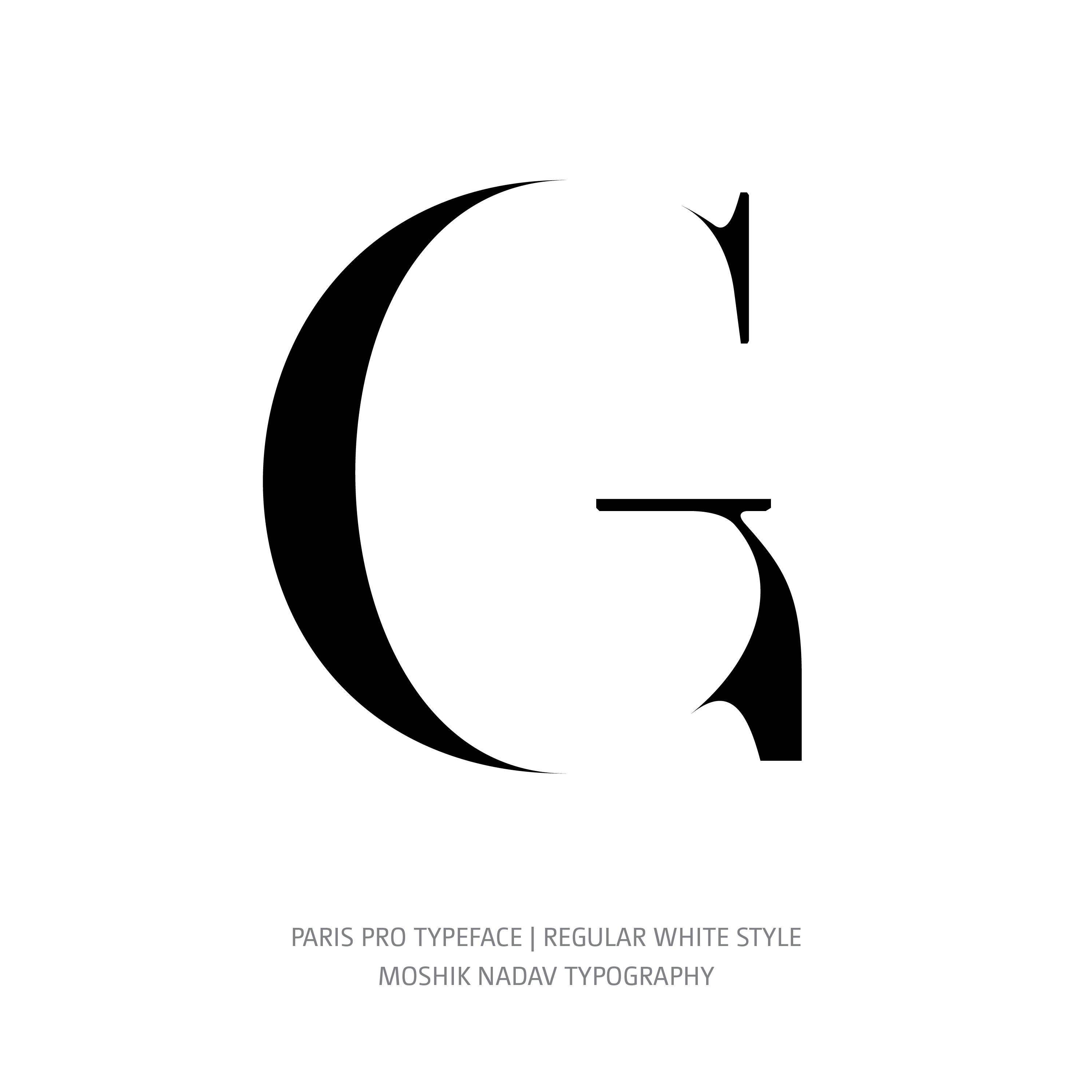 Paris Pro Typeface Regular White G
