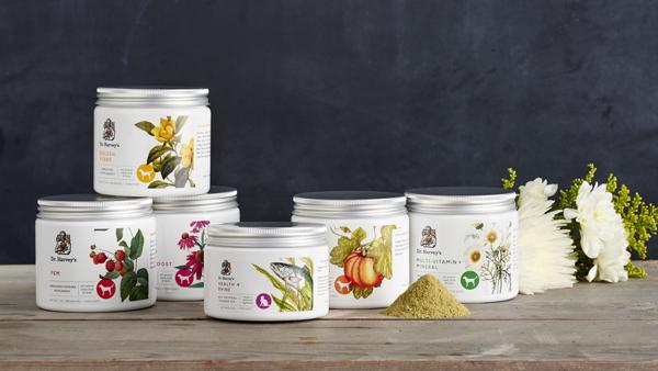 Dr. Harvey's Pet Supplements Packaging Design