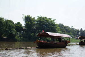 See the Landscape from a Boat on River Ping