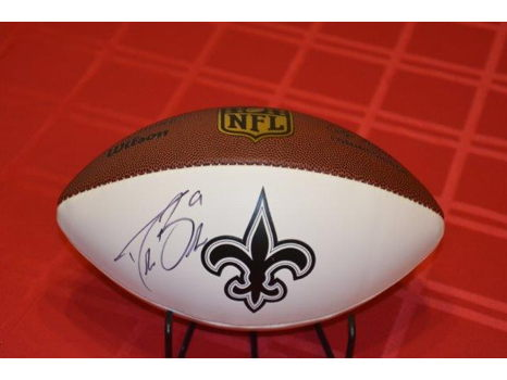 Autographed N.O. Saints Drew Brees Football