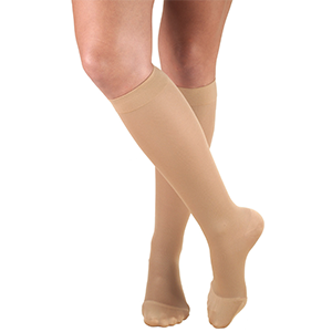 Ladies' Knee High Closed Toe Opaque Stockings in Black