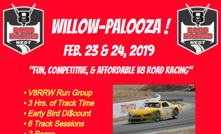 WILLOW-PALOOZA V8 ROAD RACING WEST - V8RRW