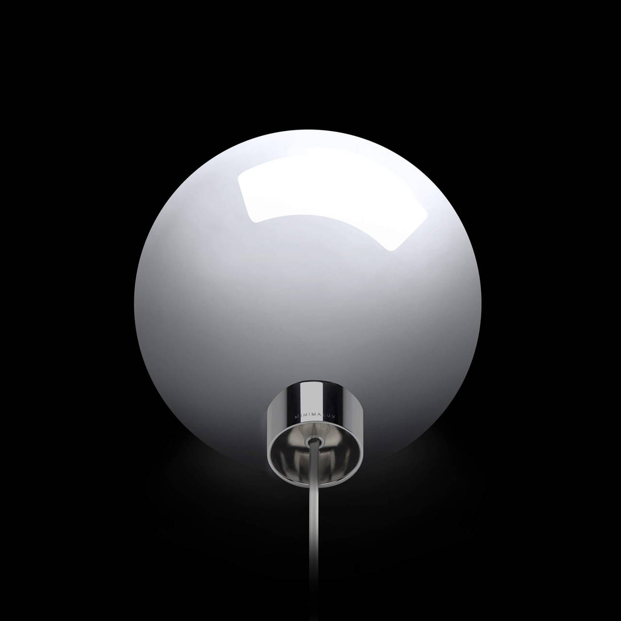 Bulb Table Lamp in Chrome