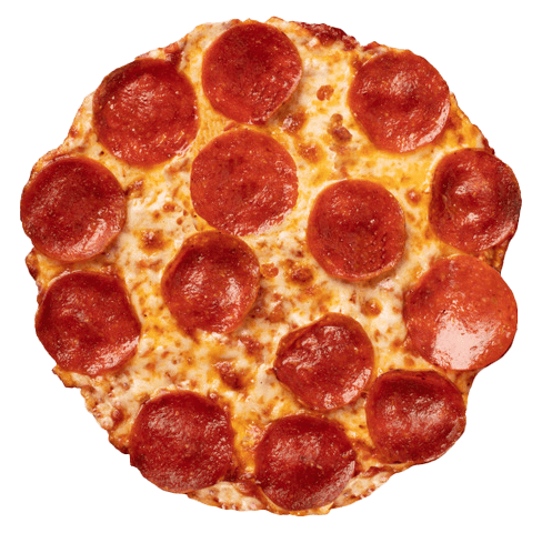 pepperoni pizza on cauliflower crust