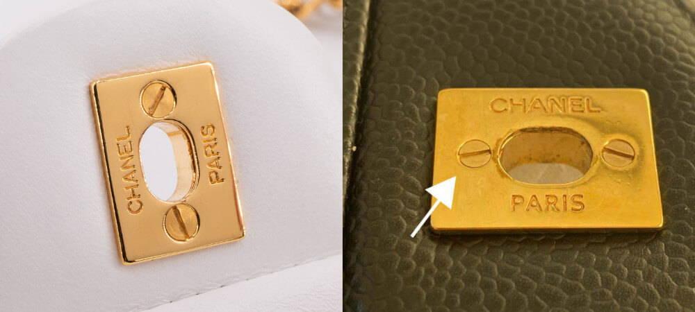 Back of Chanel Bag's Lock Flat Head Screws