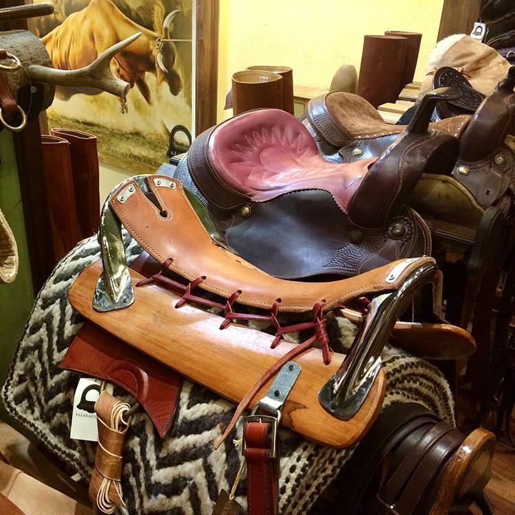 Argentine polo saddles.