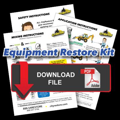Equipment Restore Kit Application Instructions