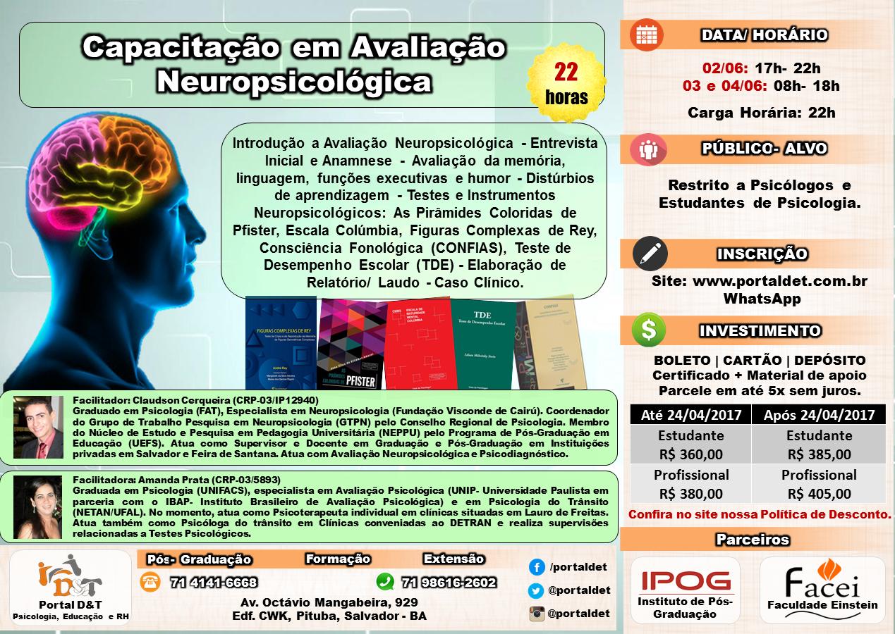 CURSO: Capacitação em Avaliação Neuropsicológica - 22 horas