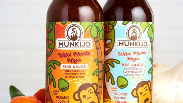 Munkijo Hot Sauce Packaging Design