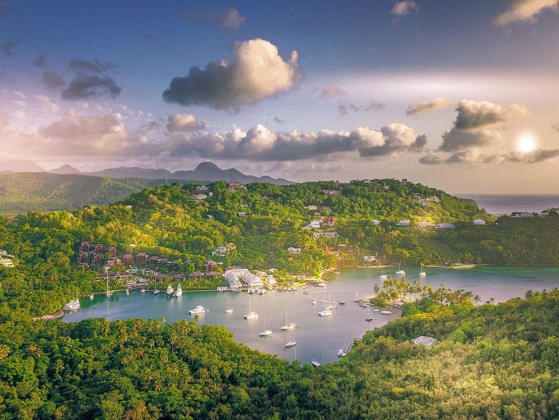 Svatá Lucie Marigot Bay