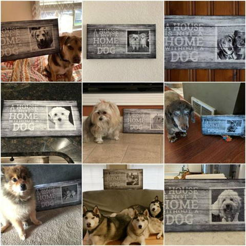 House is not a home without a home, canvas print customer photos