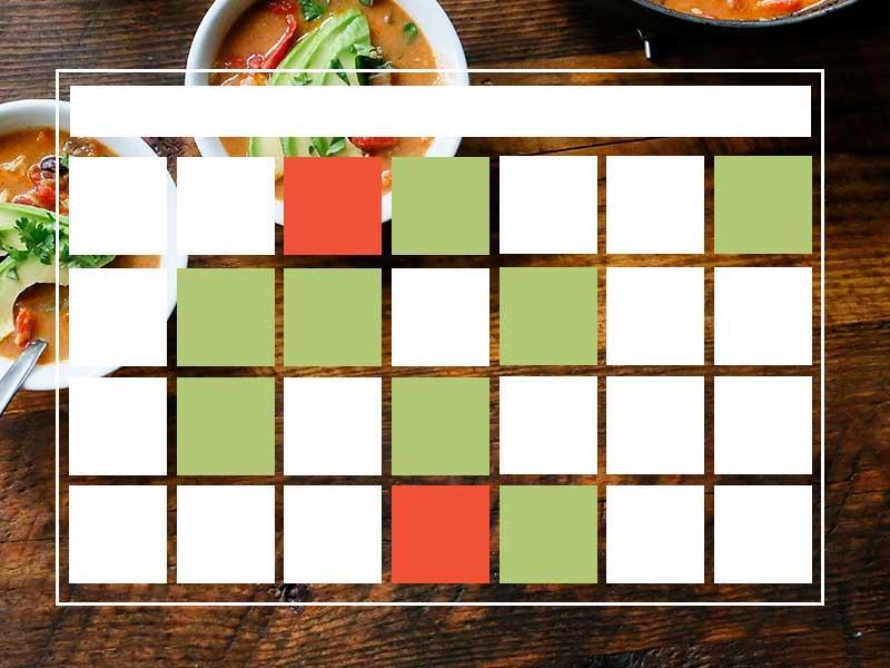 view cooking class calendar
